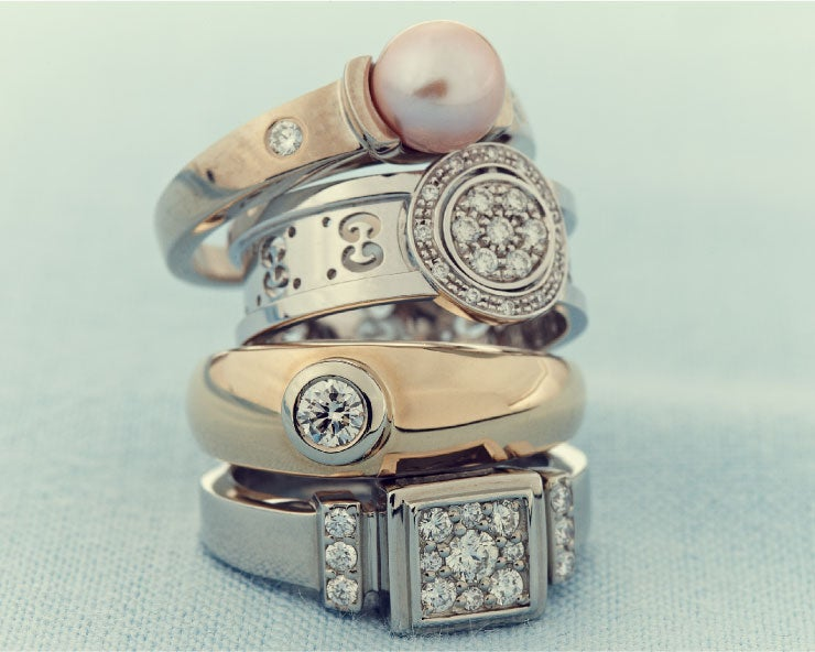 A stack of rings that can be given as years of service awards | O.C. Tanner