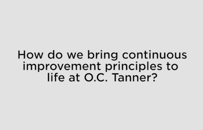 O.C. Tanner Lean Manufacturing Principles